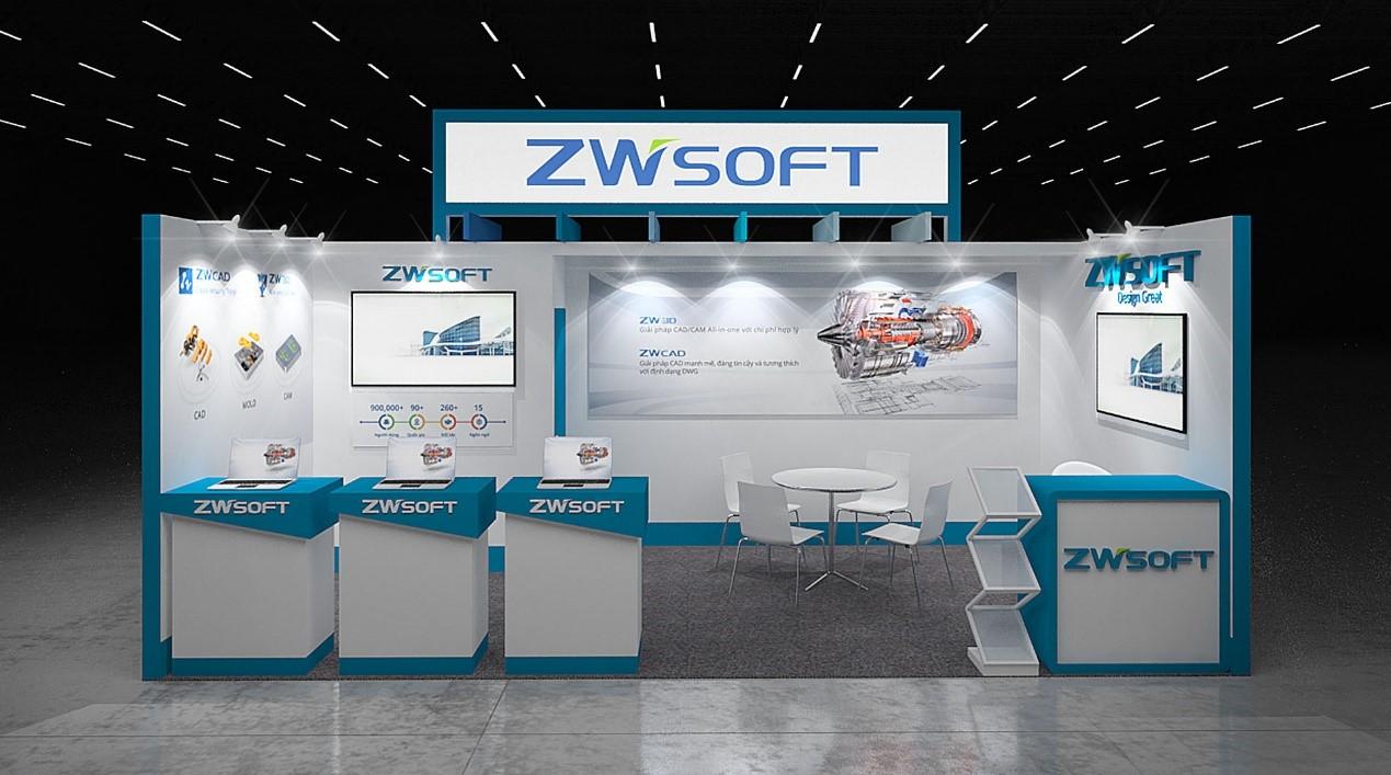 ZWSOFT Booth at MTA Vietnam