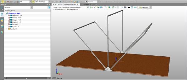 Figure 12. The model of the floor mechanism