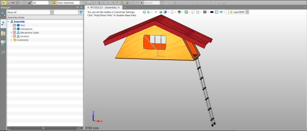 Figure 1. The model of a GeaTectum™ rooftop tent in ZW3D