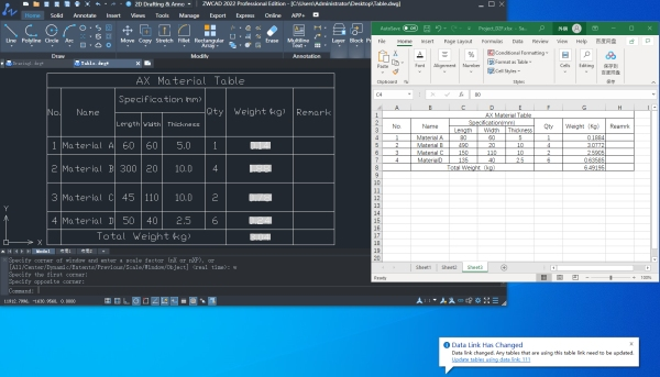 Figure 4. Synchronize internal and external table data with Data Link