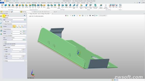 ZW3D 2020 Beta - Módulo CAD: resolver diseño de producto más complejo