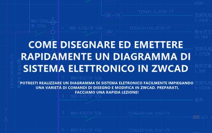Come Disegnare ed Emettere Rapidamente un Diagramma di Sistema Elettronico in ZWCAD
