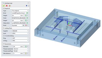 ZW3D 2020 Beta – 金型モジュール: 強化された金型および電極