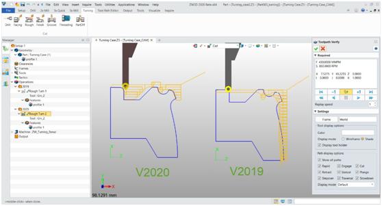 ZW3D 2020 Beta - CAM モジュール:より簡単に効率的に加工